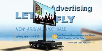 promotion rentable mobile outdoor trailer led display